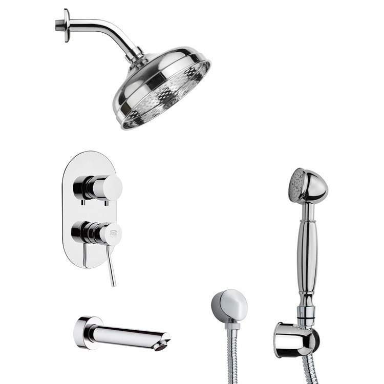 REMER TSH4528 INVERNO TUB AND SHOWER FAUCET WITH SLIDING RAIL