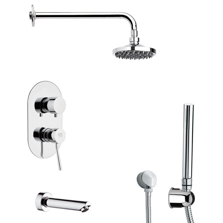 REMER TSH4531 INVERNO MODERN SHOWER SYSTEM WITH SLIDING RAIL