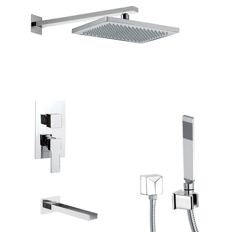 REMER TSH4543 INVERNO SQUARE THEMED TUB AND SHOWER FAUCET