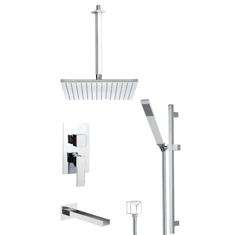 REMER TSR9505 ESTATE SQUARE THEMED TUB AND SHOWER FAUCET