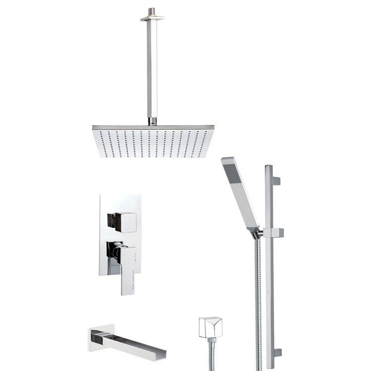 REMER TSR9506 ESTATE TUB AND SHOWER FAUCET WITH SLIDING RAIL