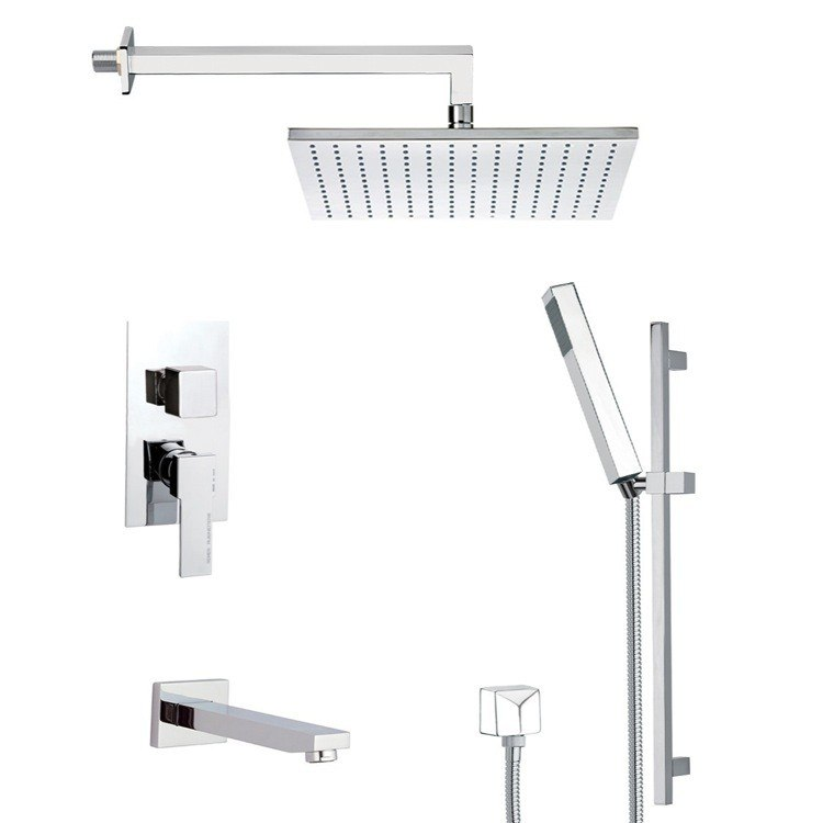 REMER TSR9509 ESTATE CONTEMPORARY TUB AND SHOWER FAUCET WITH SLIDING RAIL