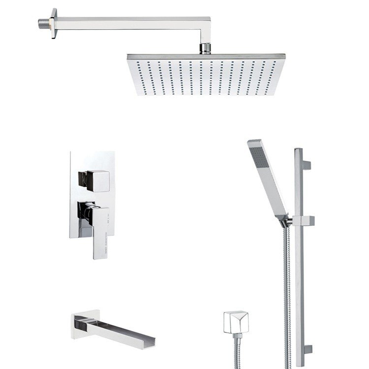 REMER TSR9511 ESTATE TUB AND SHOWER FAUCET WITH SLIDING RAIL