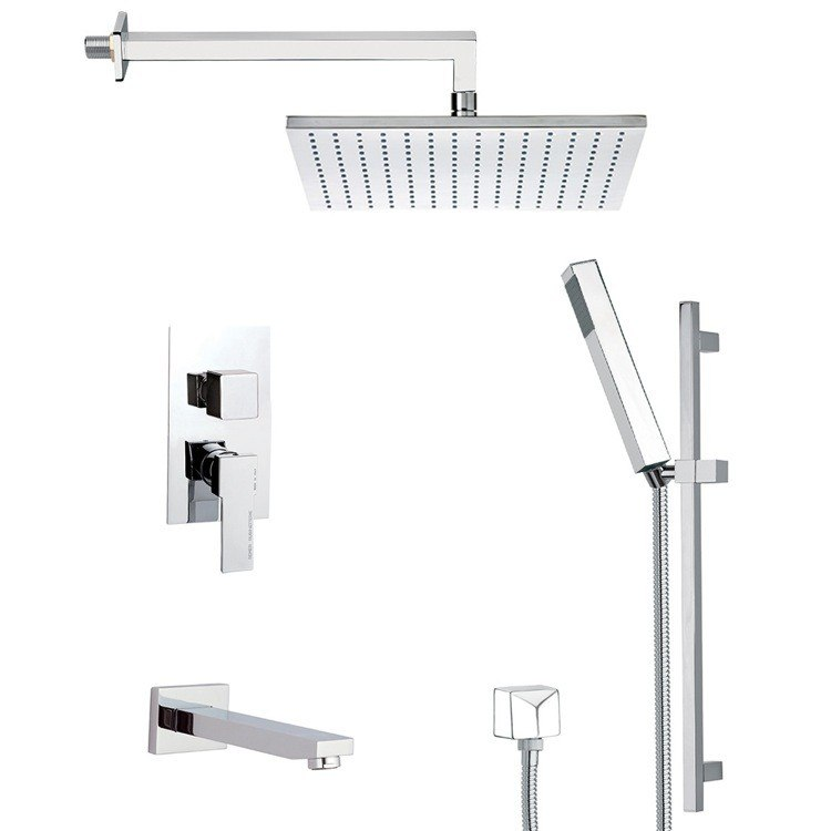 REMER TSR9512 ESTATE SQUARE THEMED TUB AND SHOWER FAUCET