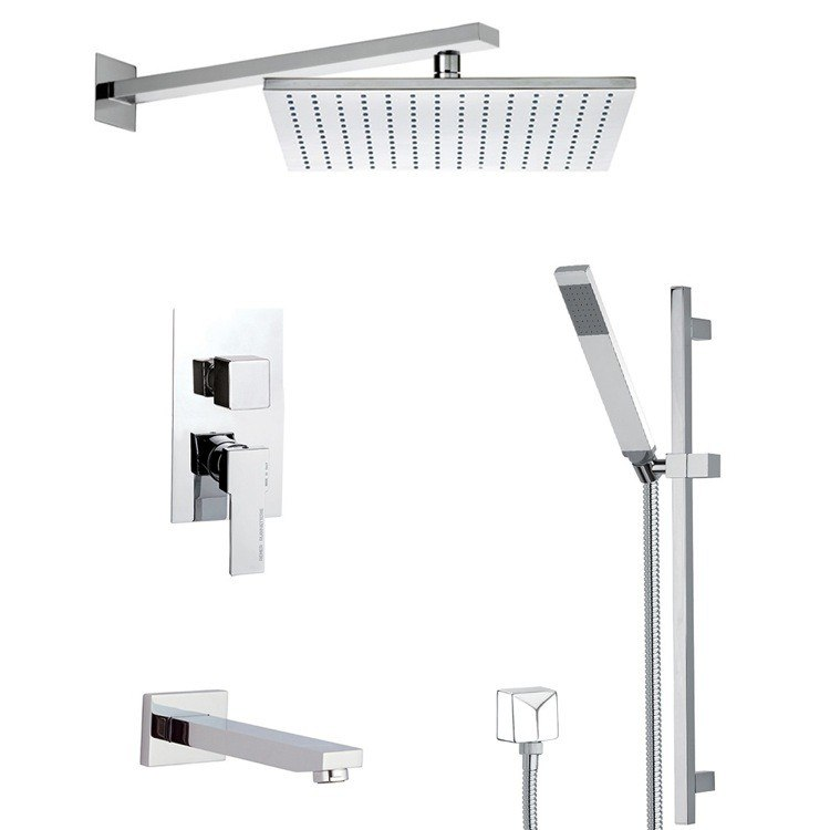 REMER TSR9515 ESTATE TUB AND SHOWER FAUCET WITH SLIDING RAIL