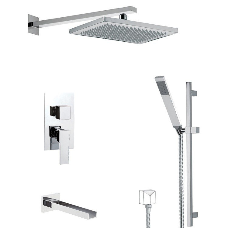 REMER TSR9543 ESTATE SQUARE THEMED TUB AND SHOWER FAUCET