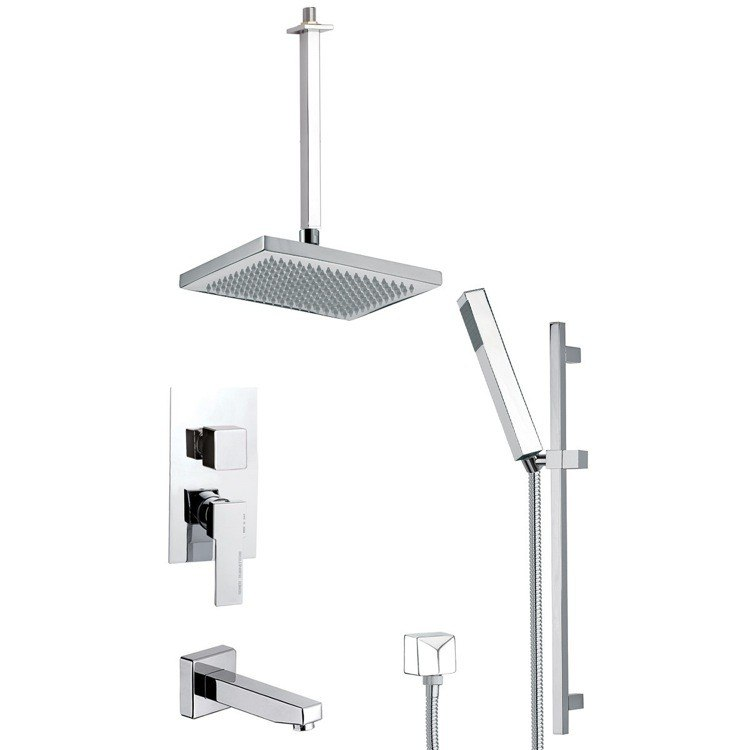 REMER TSR9546 ESTATE MODERN SHOWER SYSTEM WITH SLIDING RAIL
