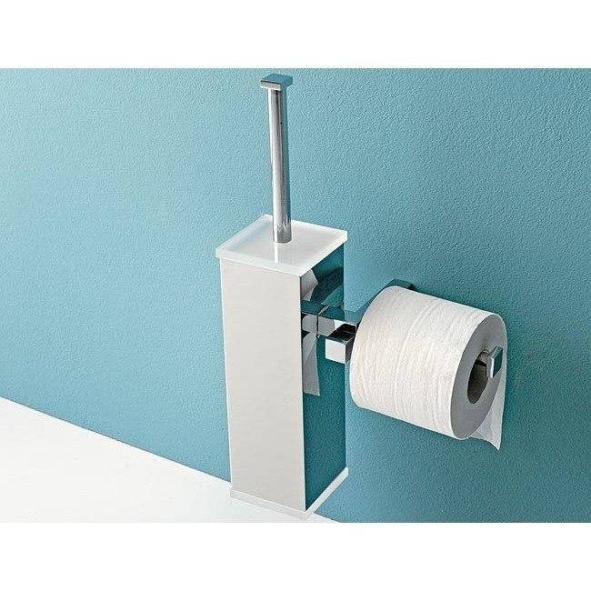 Toscanaluce 4526 Eden Wall Mounted Toilet Brush Holder with Toilet Roll Holder