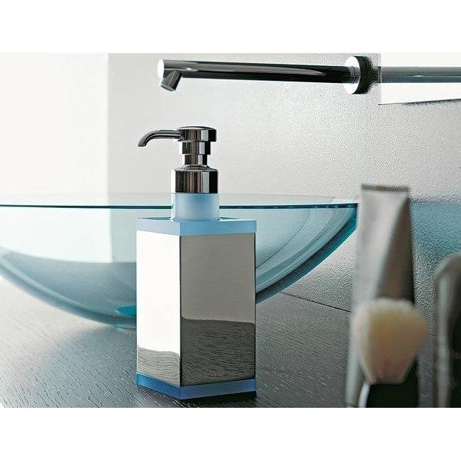 TOSCANALUCE 4563 EDEN SQUARE BRASS AND PLEXIGLASS SOAP DISPENSER
