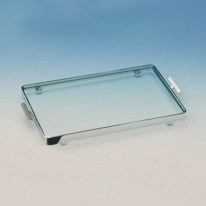 WINDISCH 51420 TRAYS RECTANGULAR CLEAR CRYSTAL GLASS BATHROOM TRAY