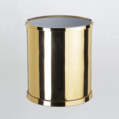 WINDISCH 89102 BATH BINS ROUND BATHROOM WASTE BIN IN BRASS
