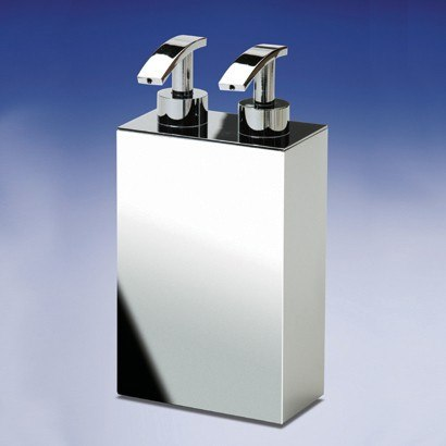 WINDISCH 90104 BOX METAL LINEAL SQUARED SOAP DISPENSER WITH TWO PUMP(S)