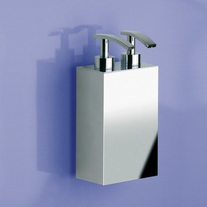 WINDISCH 90124 BOX METAL LINEAL SQUARE WALL MOUNTED BRASS SOAP DISPENSER WITH TWO PUMP(S)