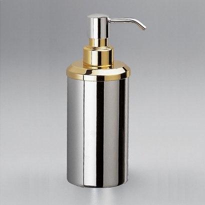 WINDISCH 90407 METAL ACCESSORIES CONTEMPORARY ROUND COUNTERTOP BRASS SOAP DISPENSER