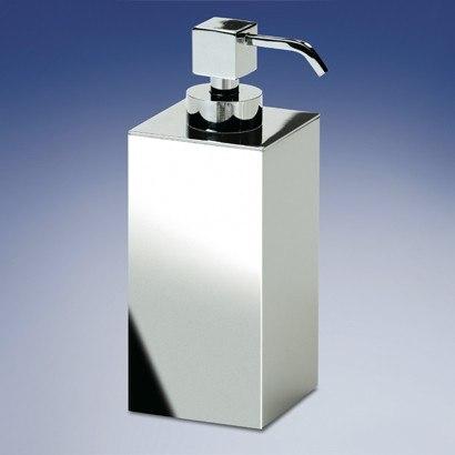 WINDISCH 90419 BOX METAL SQUARE CONTEMPORARY BRASS SOAP DISPENSER