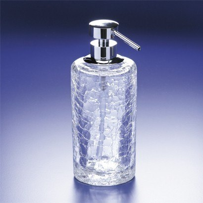 WINDISCH 90432 ADDITION CRACKLED ROUNDED CRACKLED CRYSTAL GLASS SOAP DISPENSER