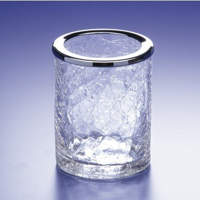 WINDISCH 91125 ADDITION CRACKLED CRACKLED CRYSTAL GLASS TOOTHBRUSH HOLDER
