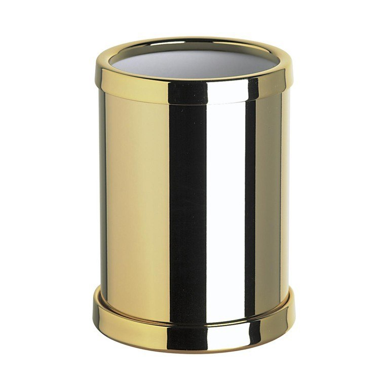 WINDISCH 91301 CYLINDRICAL ROUND BRASS TOOTHBRUSH HOLDER