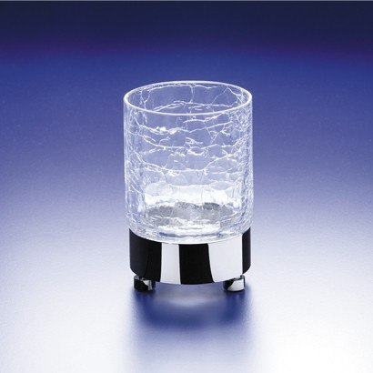 WINDISCH 94118 ADDITION CRACKLED ROUND CRACKLED CRYSTAL GLASS TUMBLER