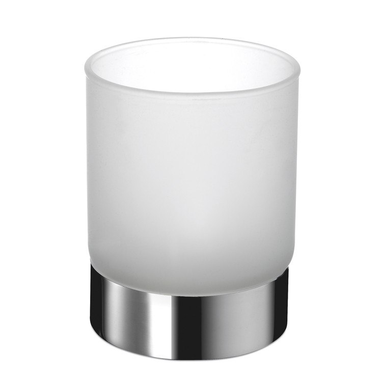 WINDISCH 94124 COMPLEMENTS ROUND FROSTED CRYSTAL GLASS BATHROOM TUMBLER
