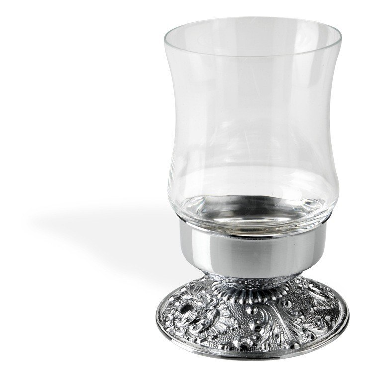 STILHAUS NT10AP NOTO CRISTALLO MODERN FREE STANDING CRYSTAL GLASS TOOTHBRUSH HOLDER/TUMBLER