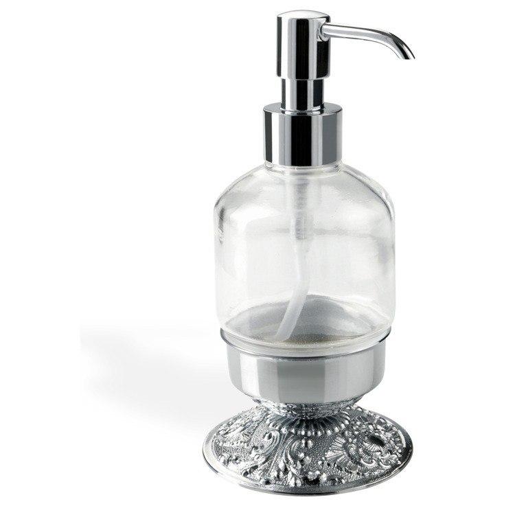 STILHAUS NT30AP NOTO CRISTALLO ROUND FREE STANDING CRYSTAL GLASS LIQUID SOAP DISPENSER