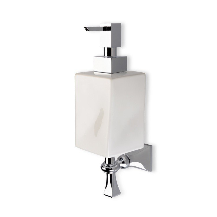 STILHAUS PR30 PRISMA WALL MOUNTED CLASSIC-STYLE CERAMIC SOAP DISPENSER