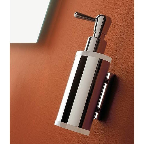 TOSCANALUCE 5523 KOR WALL MOUNTED BRASS AND PLEXIGLASS SOAP DISPENSER