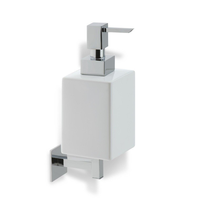 STILHAUS U30 URANIA WALL MOUNTED SQUARE WHITE CERAMIC SOAP DISPENSER