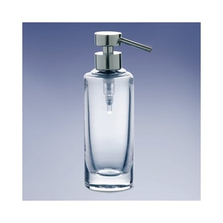 WINDISCH 904141 ADDITION PLAIN ROUNDED TALL PLAIN CRYSTAL GLASS SOAP DISPENSER