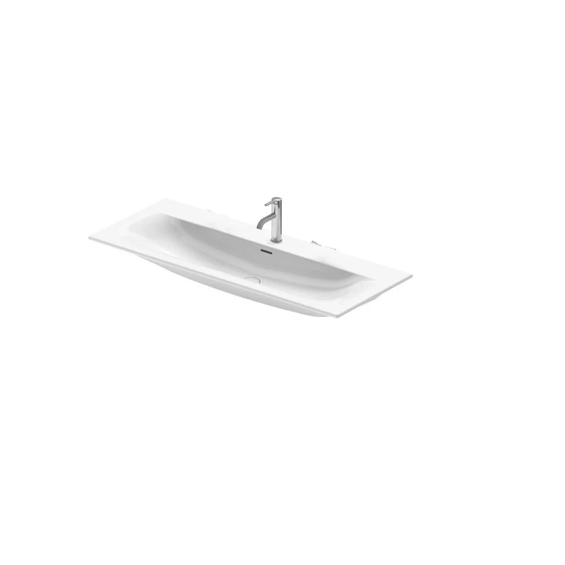 DURAVIT 234412 VIU 48-3/8 INCH WALL-MOUNTED WASHBASIN WITH OVERFLOW