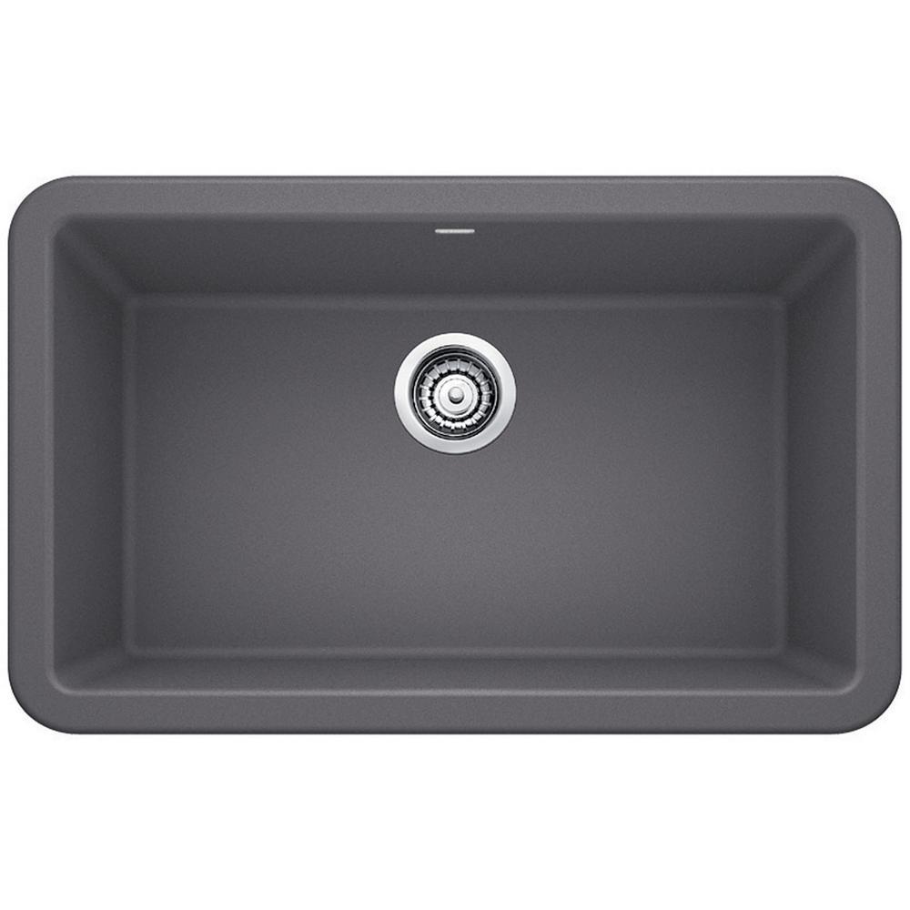 Blanco 401779 Ikon Granite 30 Inch Kitchen Sink In Cinder