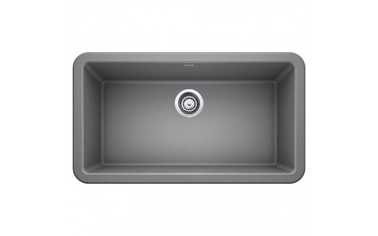 Blanco 401900 Ikon 33 Inch Apron Front Kitchen Sink in Metallic Gray