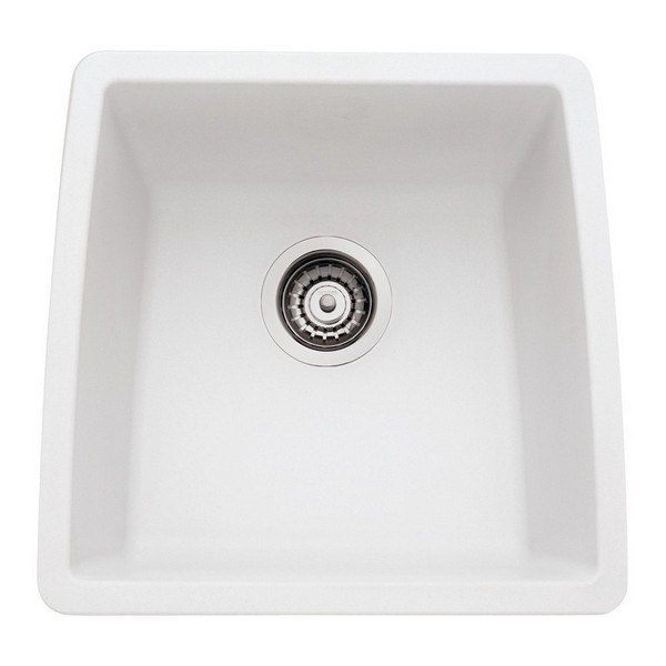 Blanco 440081 Performa Granite 17 Inch Kitchen Sink in White