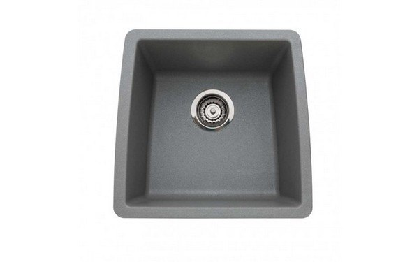 Blanco 440082 Performa Granite 17 Inch Kitchen Sink in Metallic Gray