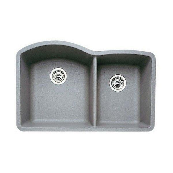 Blanco 440178 Diamond Granite 32 Inch Kitchen Sink in Metallic Gray