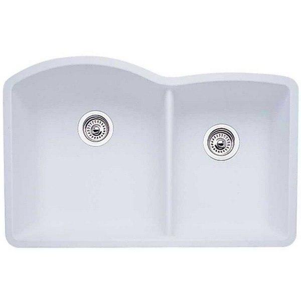 Blanco 440180 Diamond Granite 32 Inch Kitchen Sink in White