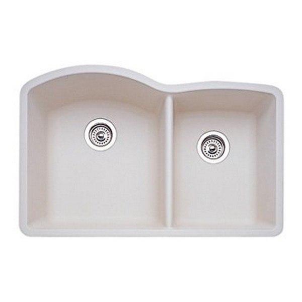 Blanco 440181 Diamond Granite 32 Inch Kitchen Sink in Biscuit