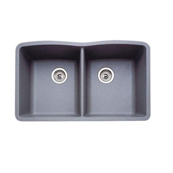 Blanco 440183 Diamond Granite 32 Inch Kitchen Sink in Metallic Gray