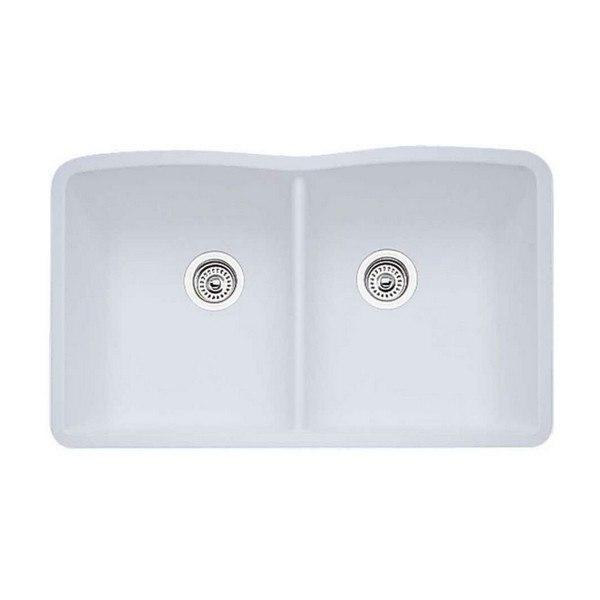 Blanco 440185 Diamond Granite 32 Inch Kitchen Sink in White