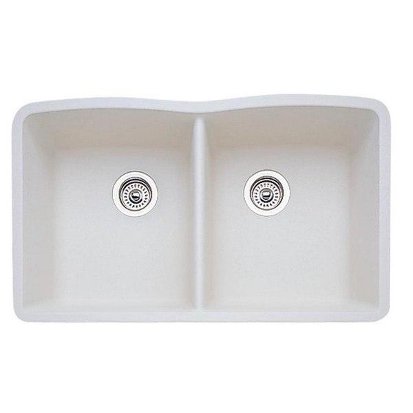 Blanco 440186 Diamond Granite 32 Inch Kitchen Sink in Biscuit