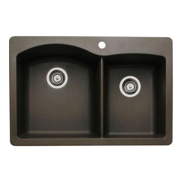 Blanco 440213 Diamond Granite  33 Inch Kitchen Sink in Cafe Brown