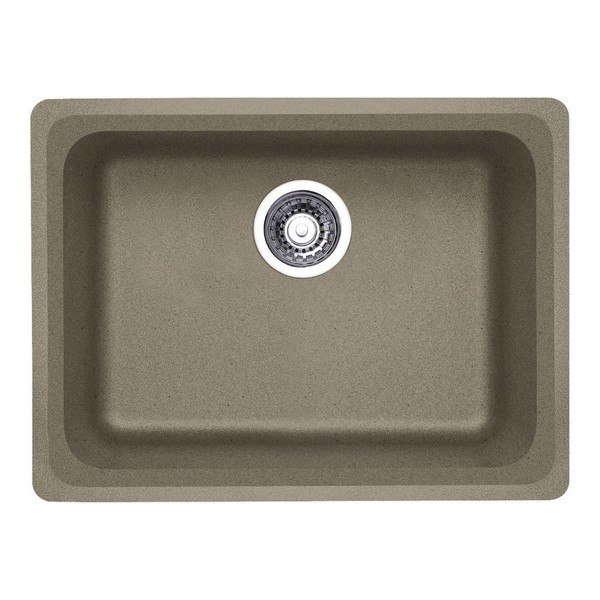 Blanco 441370 Vision Granite 24 Inch Kitchen Sink in Truffle