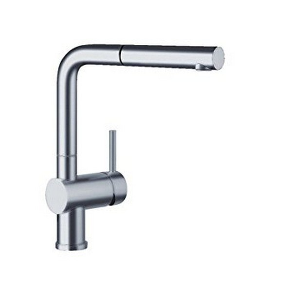 Blanco 441431 Linus Pull-Out, Swivel Single Hole Kitchen Faucet in Satin Nickel