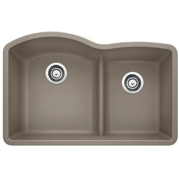 Blanco 441596 Diamond Granite 32 Inch Kitchen Sink in Truffle