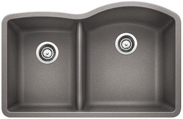 Blanco 441601 Diamond Granite Composite 32 Inch Kitchen Sink in Metallic Gray