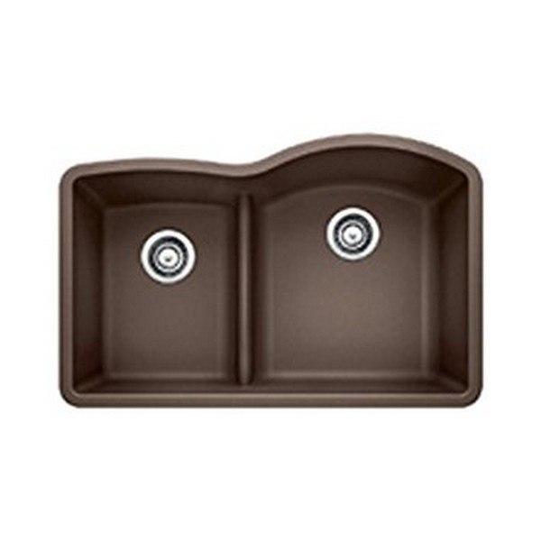 Kraus Kgd 442white Quarza 33 Inch Dual Mount 60 40 Double Bowl Granite Kitchen Sink Kraus Kgd 442black Quarza 33