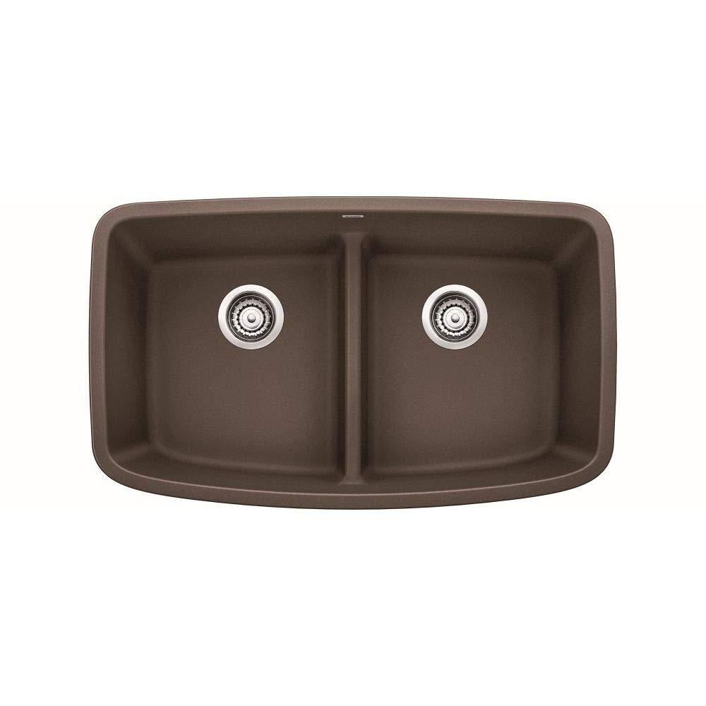 BLANCO 442203 VALEA GRANITE 32 INCH KITCHEN SINK IN CAFE BROWN