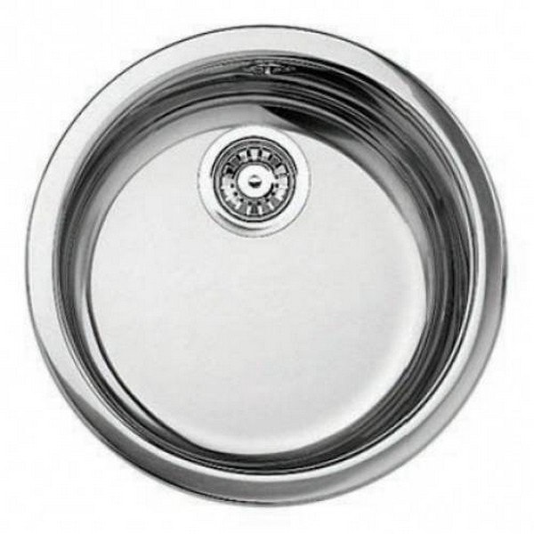 BLANCO 513652 18 INCH RONDO DROP-IN/UNDERMOUNT SINGLE BOWL STAINLESS STEEL ROUND BAR SINK