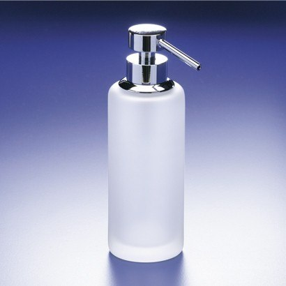 WINDISCH 90414M ADDITION FROZEN ROUNDED TALL FROSTED CRYSTAL GLASS SOAP DISPENSER